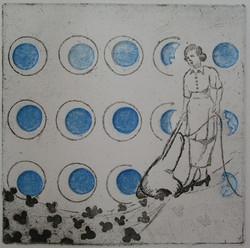 Rigney- mothers Disneyland- etching, emboss