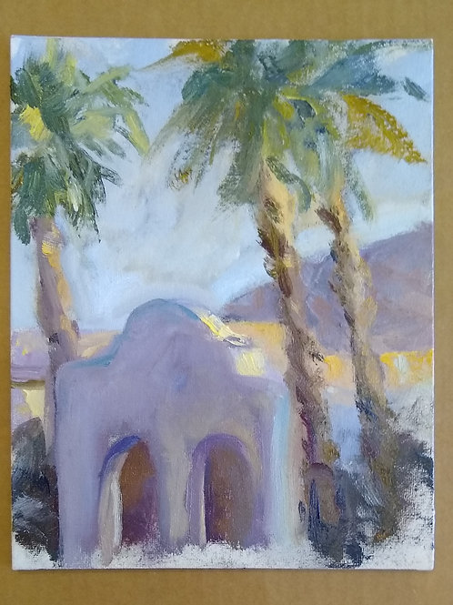 Three palms and a touch of light