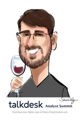 digital caricature by the bay area caricaturist