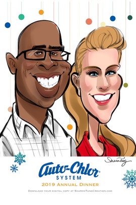 Digital caricature for holiday events