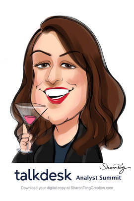 digtial caricature for corporate event