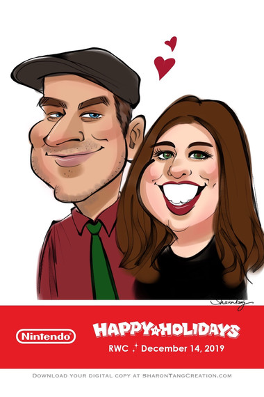 December Party Caricature @Nintendo