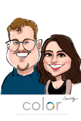 couple caricatures