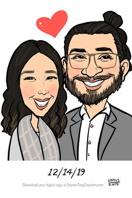 live caricatures for birthday party