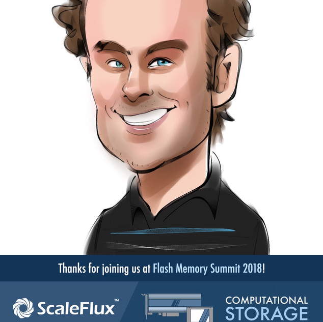 ScaleFlux at Flash Memory Summit 2018 Caricatures