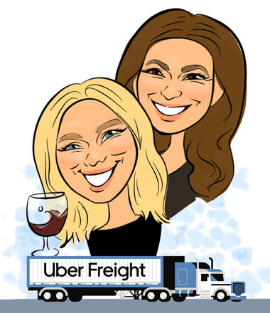 Holiday Event Caricature @Uber