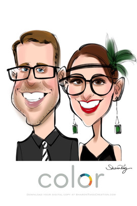 Caricatures for 1920s theme