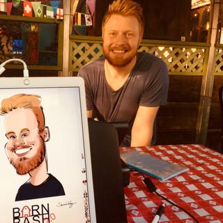 Barn Bash Caricature