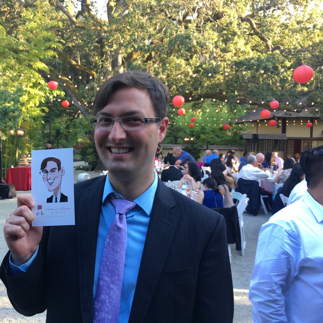 live caricature at weddings