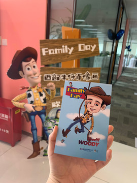 toy story theme Woody, company event fun