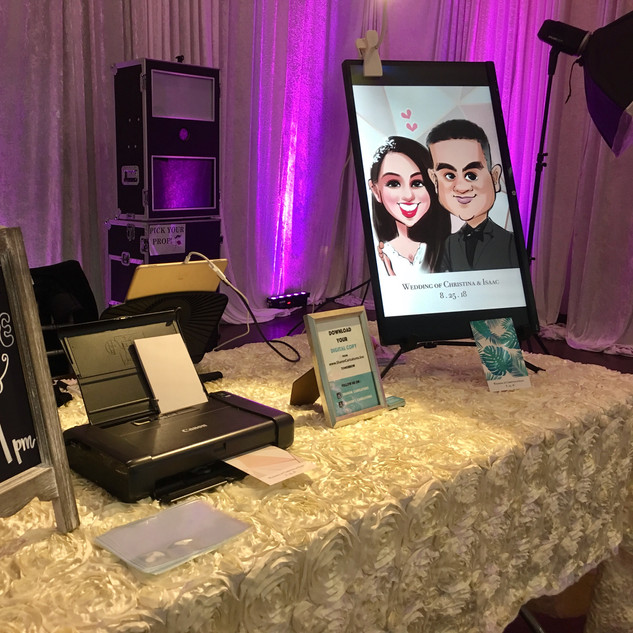 digital caricatures for wedding