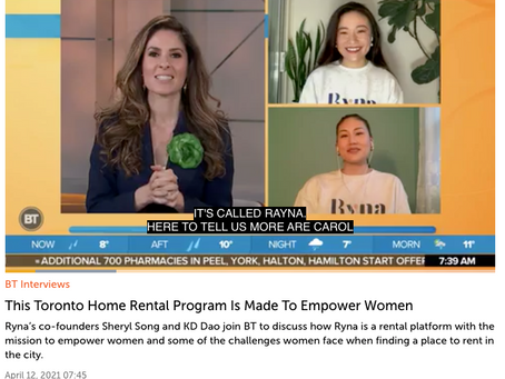 """Breakfast Television: """"This Toronto Home Rental Program Is Made To Empower Women"""""""