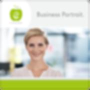 Budiness Portraits Logo Design erfrischende Werbung
