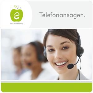 Telefonansagen Logo Design erfrischende Werbung