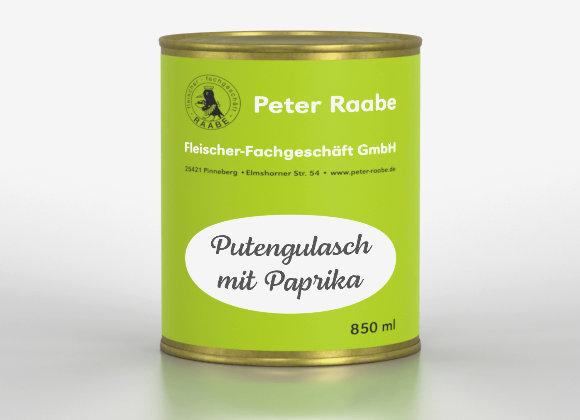 Putengulasch mit Paprika