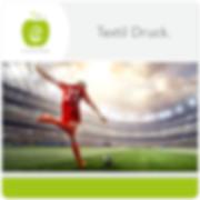Textildruck Logo Design erfrischende Werbung