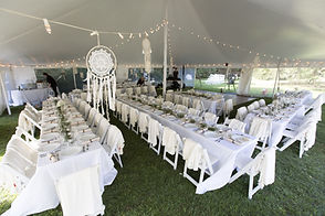 Inside Cape Cod Wedding Tent at the Rugo
