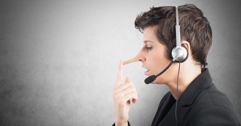 Picture of Call Centre Worker with long nose