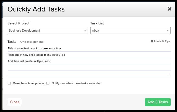 Adding Multiple Tasks