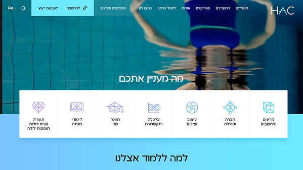 Hadassah Academic College Website רונן כהן Ronen Cohen