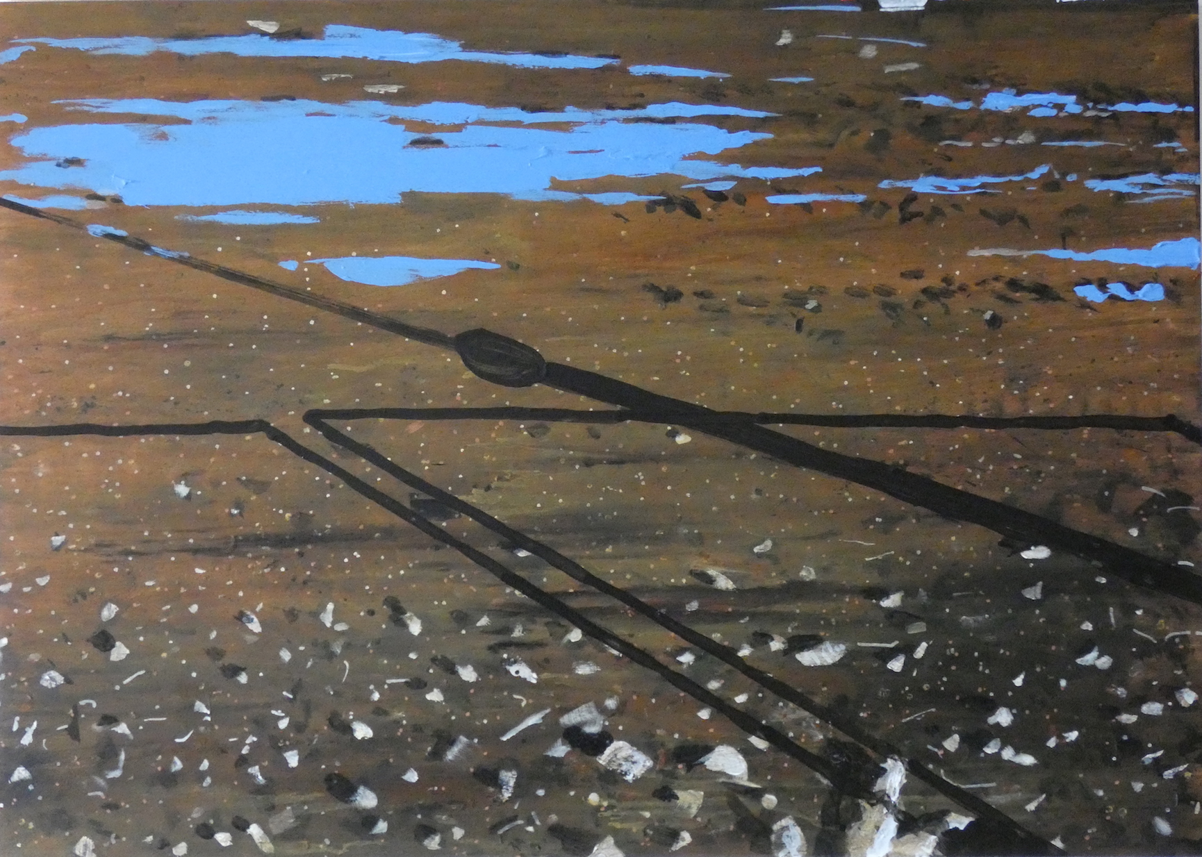 Untitled Puddle Painting (The Hole)