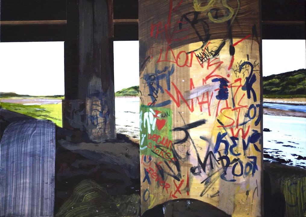 Untitled Bridge Painting (Spine Road)