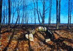 Untitled Trees Painting (Westerplatte)