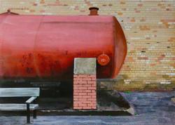 Untitled Wall Painting (Big Red Jobbie)