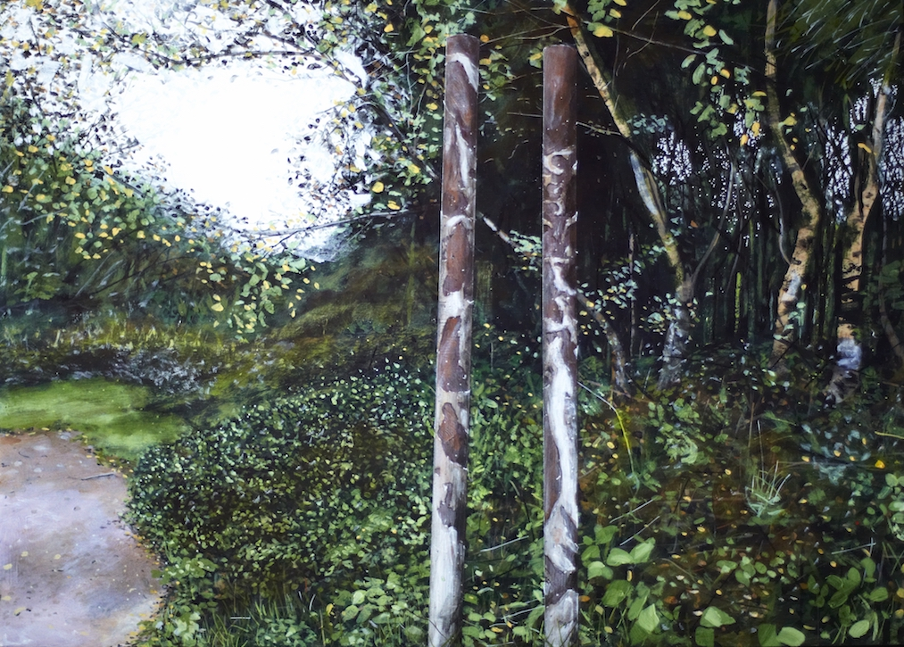 Untitled Posts Painting (QEII)