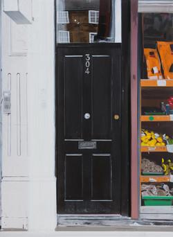 Untitled Black Door Painting (304)