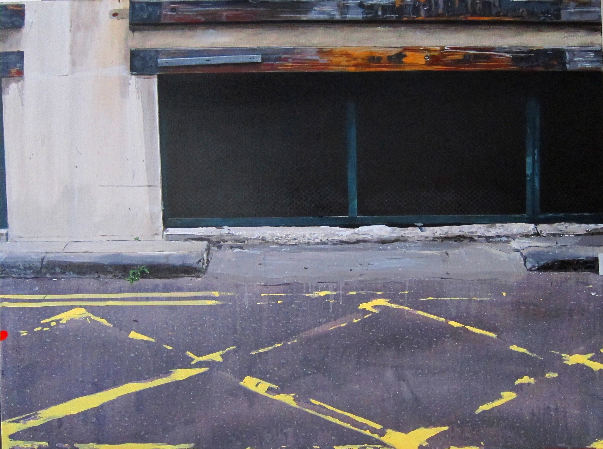 Untitled Kerbstone Painting (MJK)