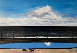 Untitled Promenade Painting (Bombardment for Theo Jones)