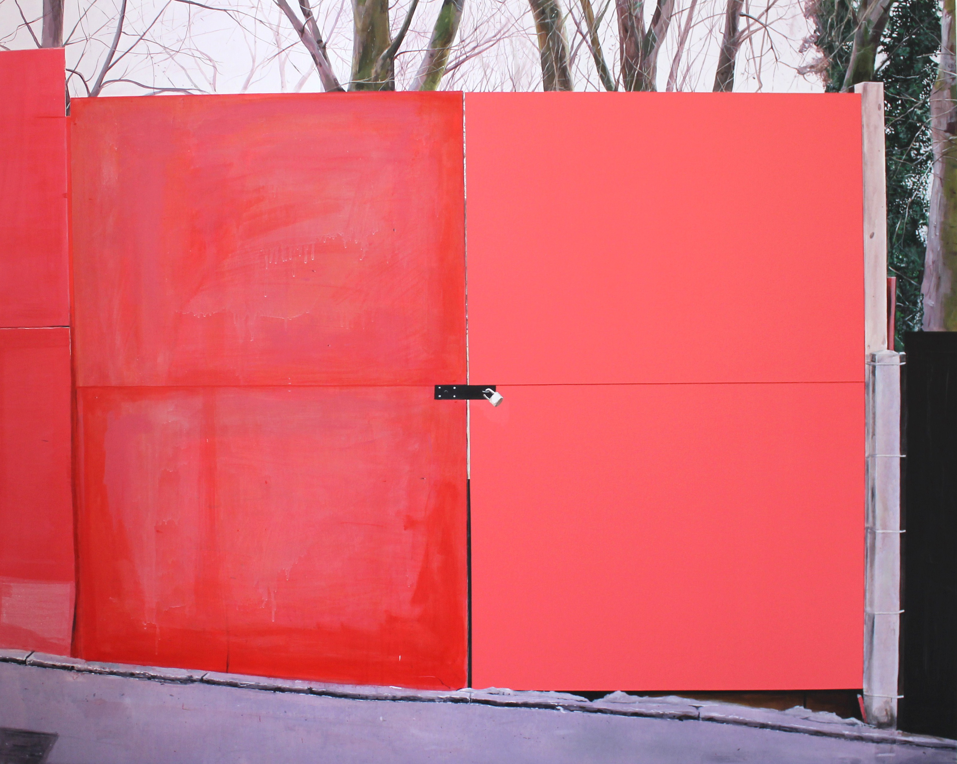 Untitled Red Gate Painting