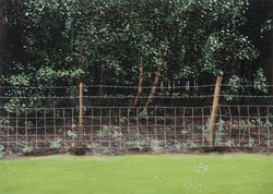 Untitled Fence Painting (Colliery)
