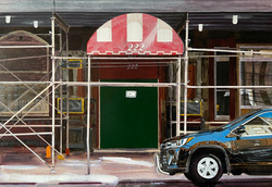 Untitled Awning Painting (Chelsea Hotel)