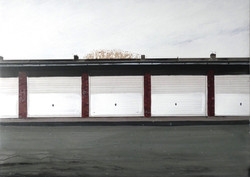 Untitled Garages Painting (The Rows)
