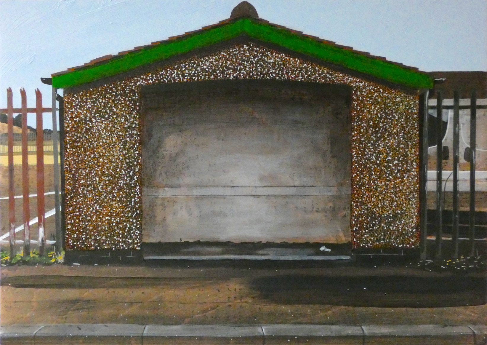 Untitled Bus Stop Painting (Colliery)