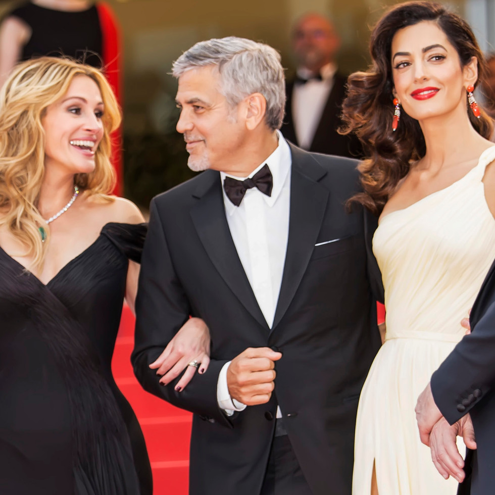 Julia Roberts George Clooney Amal Clooney