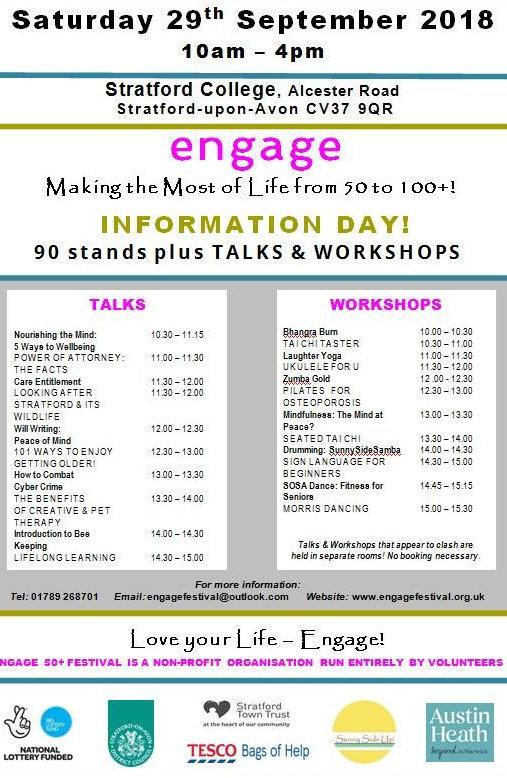 Engage Talks Workshops programme 2018-00