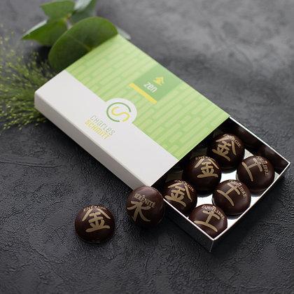 Bonbons de chocolat Zen aux thés - 120 grs