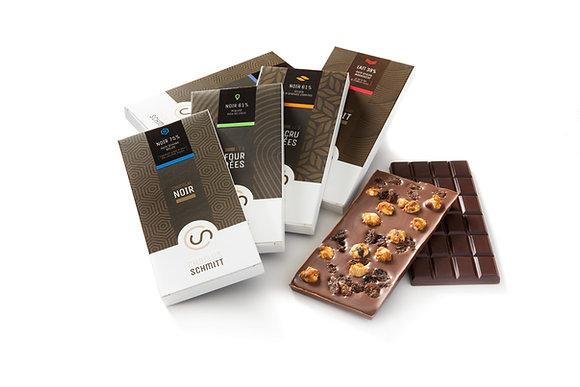Tablettes de Chocolat : Noir / Lait / Fourrée / Incrustée