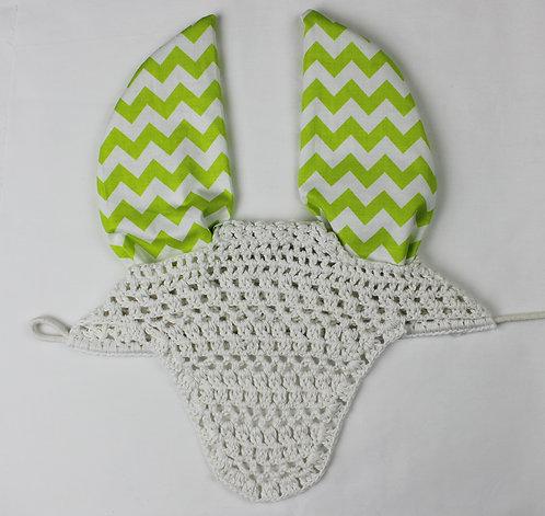 Lime Green Chevron Pattern Bonnet