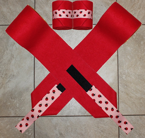 Red Lady Bug Ribbon Polo Wraps