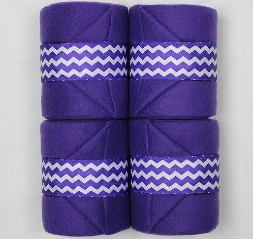 Purple Chevron Polo Wraps