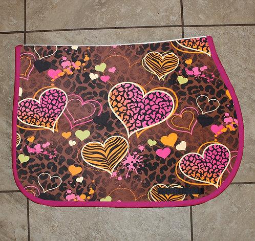 Animal Print Hearts Pattern Pad