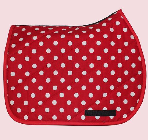 Red Polka Dot Pattern Pad