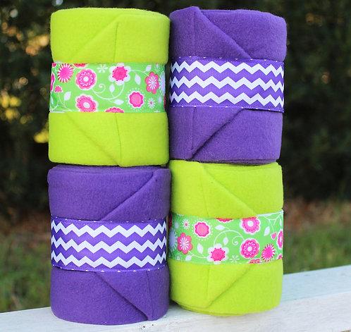 Purple/ Light Green Polo Wraps