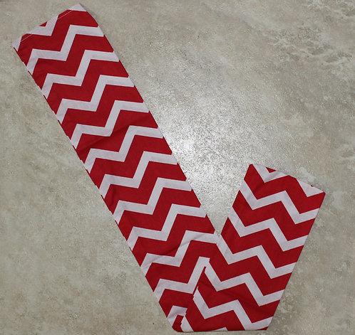 Red Chevron Tail Bag