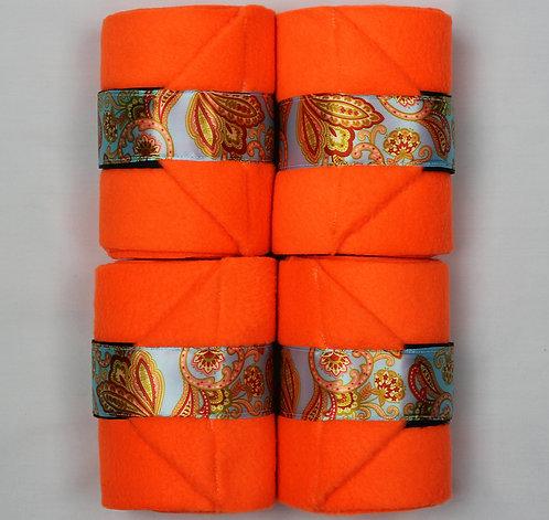 Neon Orange Paisley PoloWraps