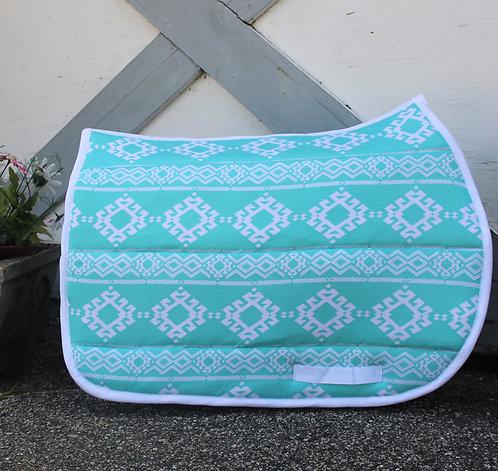 Aqua/White Aztec Pattern Pad